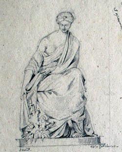 Альбом чертежей и рисунков архитектора Э. И. Жибера из собрания ...